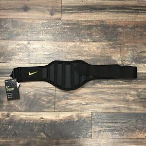 Nike Structured Lifting Belt Size Medium Black Volt