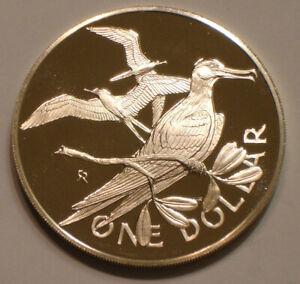 1974 SILVER Dollar of British Virgin Islands GEM PROOF DCAM MAGNIFICENT FRIGATE