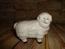 Vintage Ceramic Sheep Figurine White w/Black Feet R.O.C. Artistic Gifts Taiwan