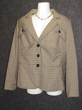 ESCADA SPORT Colorful Plaid Pattern Sport Jacket SZ 46