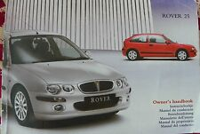 ROVER 25 OWNERS MANUAL - OWNERS GUIDE - HANDBOOK. 2003 ED. AUTOMATIC & MANUAL