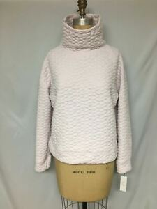 Calvin Klein Performance Quilted Funnel-Neck Top PFOT1832 Pink M, L  NWT $59.50