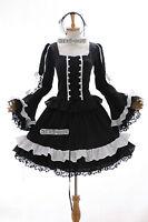 m-3108 S / M/L/XL/XXL Negro Black Lolita Gótica Cosplay Vestido disfraz