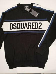 Dsquared2 Herren Pullover Sweatshirt Black Schwarz Größe XXL - Neu
