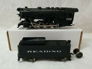 RIVAROSSI HO READING 0-8-0  SWITCHER #102 w/ TENDER - BENCH TESTED, FOR REPAIR