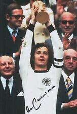 Franz Beckenbauer mano firmado Alemania 12x8 Foto 2.