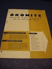 OKONITE Asbestos Wire 1949 Catalog Navy, boiler Rooms, Shipboard