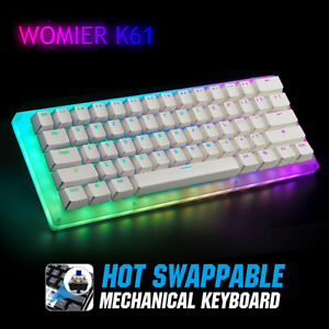 Womier 60% Mini Mechanical Gaming Keyboard RGB LED Rainbow Backlit Hot Swappable