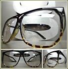 CLASSIC VINTAGE RETRO Style Clear Lens EYE GLASSES Black Tortoise Fashion Frame