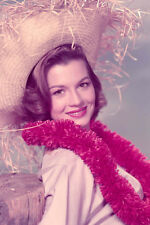 Angie Dickinson 11x17 Mini Poster 1950'S Pose In Straw Hat And Red Lei
