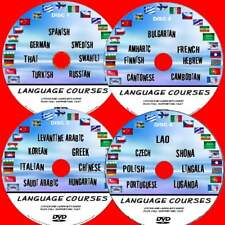 28 BASIC LANGUAGE COURSES ON PC DVD's TUTORIALS FOR BEGINNERS AUDIO & TEXT NEW