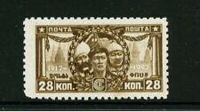 Russia 1927 Sc 381 var/Mi 334A perf 10 x 10 3/4 Workers MLH CV 75
