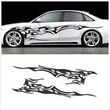 Universal Flame Graphics Stripes Sticker Washable Fashion Design  Car Body Side