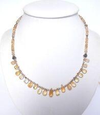 Echtschmuck-Halsketten & -Anhänger im Collier-Stil aus Sterlingsilber mit Briolett