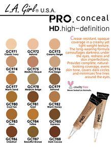 LA Girl HD Pro Conceal / 18 pcs SET / GC971~GC988