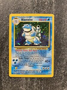 Blastoise Pokemon Card Base Set 2 2/130 Holo Rare 1999-2000