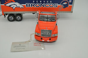 Super Rare Franklin Mint Denver Broncos 1/43 MACK CH 613 Tractor & Trailer AS IS