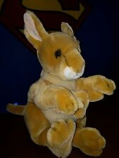 "18"" Mommy Kangaroo & Baby Joey PUPPETS Stuffed Plush Animals Realistic Aurora"