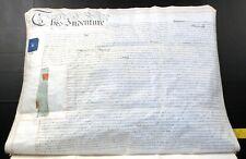 1867 Vellum Indenture FitzMaurice British Army Major & Parliament Stamps Cyphers
