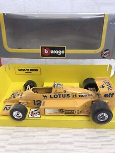 Bburago Lotus 97 Turbo 1/24 Diecast Metal Model Car With Box Vintage Dusty V258