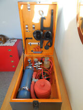 Antik Drägerwerk Notfall-Koffer/Holz Sauerstoff Inhalationsgerät 60er Jahre Top