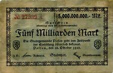 Germany 5 Billions Mark 1923 Passau No27339