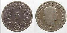 Schweiz 5  Rappen 1883 K-N (1)