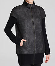 Elie Tahari New Cynthia Coated Tweed Coat Size L MSRP $698 #J 197