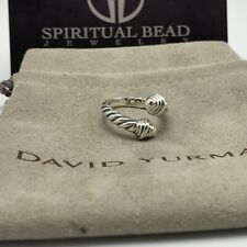 Authentic David Yurman Sterling Silver Bypass Ring size 6