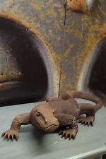 Bali Salamander Suar Holz geflammt Leguan Gecko Handarbeit Braun 50cm