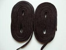 2 paia lacci spessi piatto 140 cm MARRONE-Per Scarpa Da Ginnastica in Tela Scarpe Da Skate Boot