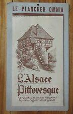 PLANCHER OMNIA calendrier 1958 Alsace pittoresque illustrations KLIPPSTIEHL