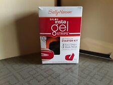 Sally Hansen Salon Insta Gel Strips Manicure Starter Kit Red My Lips NEW!! 2-17