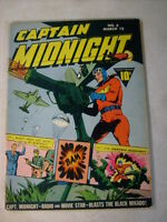 CAPTAIN MIDNIGHT #6 SECRET OF THE AA, 1943, GREAT COVER, BROADCAST DEATH