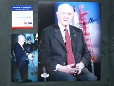 John Glenn Rare! signed NASA Senator 8x10 PSA/DNA cert PROOF!!
