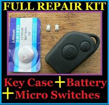 Citroen Saxo Picasso Xsara Berlingo Remote Alarm Key Fob Case FULL Repair Kit