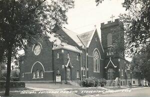 STOUGHTON WI - Central Lutheran Church Real Photo Postcard rppc