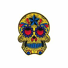 Star Sugar Skull (Iron on) Embroidery Applique Patch Sew Iron Badge