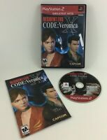 Resident Evil Code Veronica  Playstation 2 Video Game PS2 Complete Capcom 2002