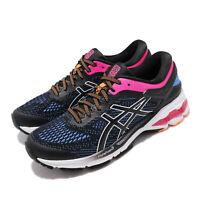 Asics Gel-Kayano 26 Black Blue Coast Pink White Women Running Shoe 1012A457-004