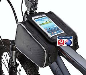 Roswheel 5.5in Water Resistant Front Top Tube Pannier Bike Frame Storage Bag