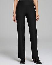 NWT Eileen Fisher Viscose Stretch Ponte Knit Straight Leg Pant Black Size XS
