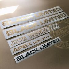 AE86 BLACK LIMITED SPRINTER TRUENO APEX TWIN CAM 16, decal, sticker, vinyl
