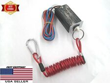Coiled Trailer breakaway cable & 12V break away switch. spring cable won't drag!