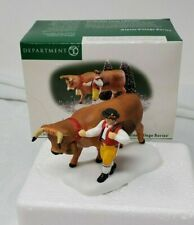 Dept 56 Alpine Village Christmas Accessory Leading the Bavarian Cow #56.56214