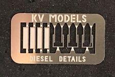WINDSHIELD WIPER/WIND DEFLECTOR DIESEL DETAIL SET #3 HO SCALE KV MODELS KV-1010H