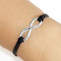 Infinity Bracelet Lucky Friendship Silver Plated Charm Bracelet