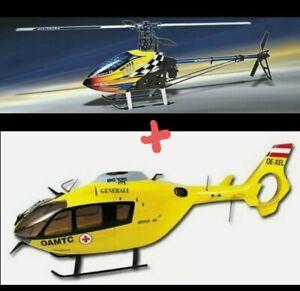Align Trex 450 Sport V2 + brand new ec135 fuselage RC Model Helicopter