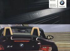 BMW Z4 ROADSTER COUPE M Individual Ausstattungen Prospekt Brochure 2005 92