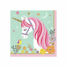 Magical Unicorn Party Supplies 16 Large Napkins Birthday Lunch